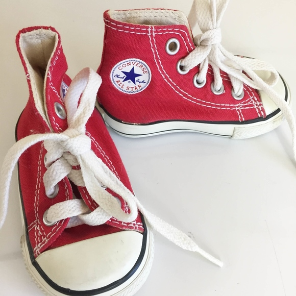 146c1da860bf31 Converse Other - Red Converse Baby Shoes - High Top Chuck Taylor